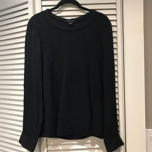 Theory wool and silk black scoop neck